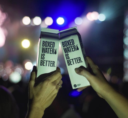 <p>Boxed Water</p>